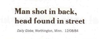 Daily Globe, Worthington, Minn. Funny Headline